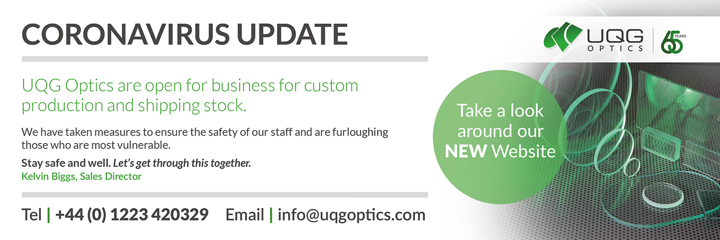 UQG Optics News Announcement