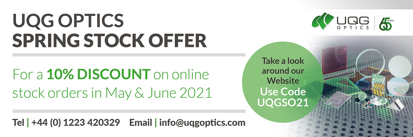 UQG Optics Spring Offer Announcement