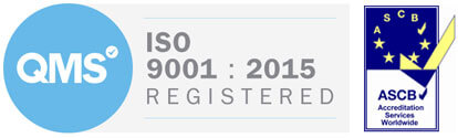 QMS ISO9001:2015 Registered ASCB