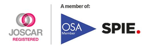 JOSCAR, OSA and SPIE Accreditations